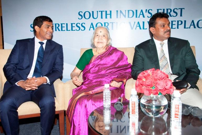 Dr Thasee Pillay, Vatsala (Patient, 82 years), Dr Sanjay